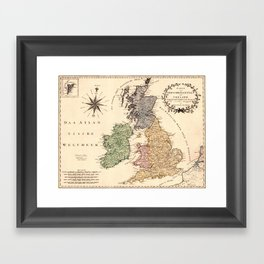 Map Of Great Britain 1795 Framed Art Print