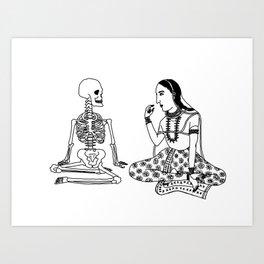 Graveyard Picnic Art Print