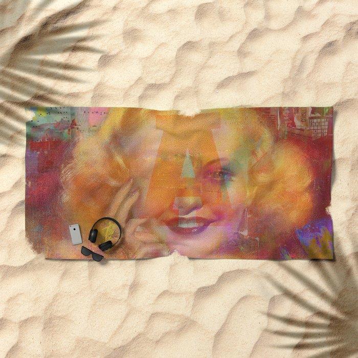 Come listen to a beautiful lie  Beach Towel