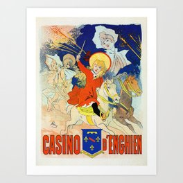 1890 Casino Enghien France Art Print