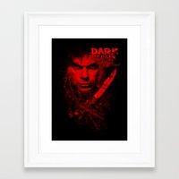 dexter Framed Art Prints featuring Dexter by fajnawizja
