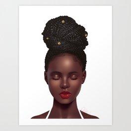 Braided Beauty Art Print