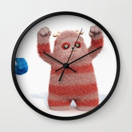 Yeti Attack Wall Clock