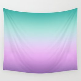 Ombre Pastel Mint Pink Ultra Violet Blurred Gradient Minimal Pattern Wall Tapestry