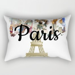 Oui Oui Paris - EiffelTower by Saletta Home Decor Rectangular Pillow