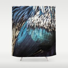 Feathers | Bird | Peacock | Blue Hues | Flying | Freedom Shower Curtain