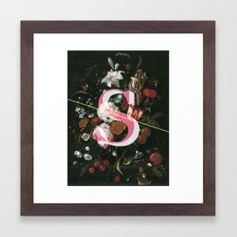 Letter S Framed Art Print