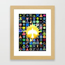 Glitch in the Grid Poster (image only) Framed Art Print