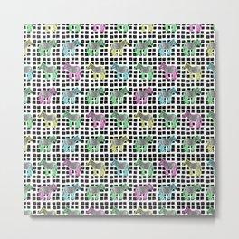 Cute and Colourful Zebra Pattern Metal Print