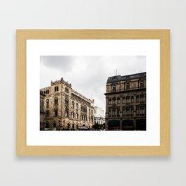 Gloomy Buildings Framed Art Print