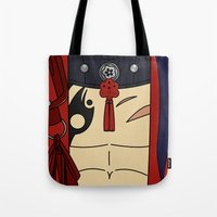 dmmd Tote Bags featuring Koujaku Outfit DMMD by Bunny Frost