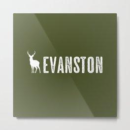 Deer: Evanston, Wyoming Metal Print