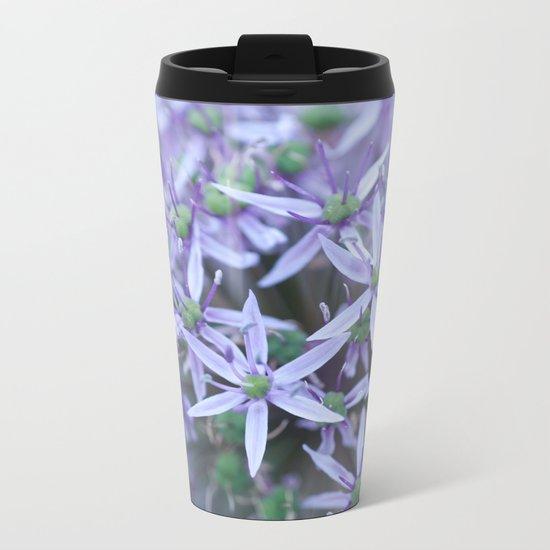 Allium Globemaster Blossoms Close-up #1 #decor #art #society6 Metal Travel Mug