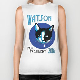 Watson For President (The Blue Edition) Biker Tank
