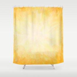 Golden Sunburst Shower Curtain