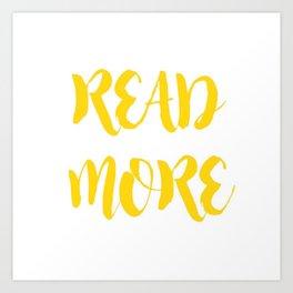 READ MORE.  Art Print