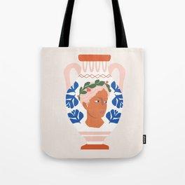 Greek Goddess Vase Tote Bag