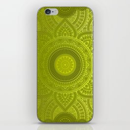 """Green Lemon Pattern Mandala Polka Dots"" iPhone Skin"