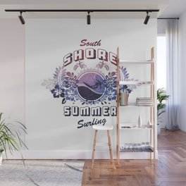 South Shore Summer Surfing Wall Mural