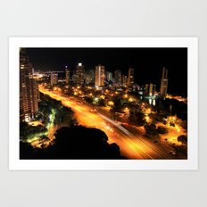 Gold Coast Highway Art Print