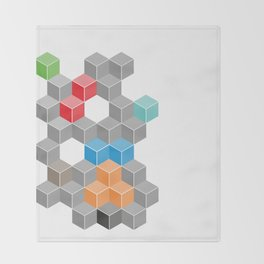 Isometric confusion Throw Blanket