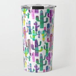 Watercolor Cacti - Pinks - Saguaros Travel Mug