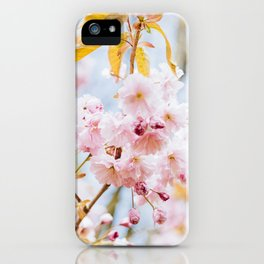 Pastel pink Cherry Blossom iPhone Case