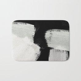 brush stroke black white painted Bath Mat