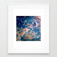 night sky Framed Art Prints featuring Night Sky by Daphne Khoury