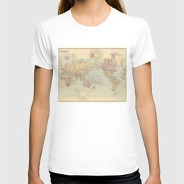 Vintage Map of The World (1901) T-shirt