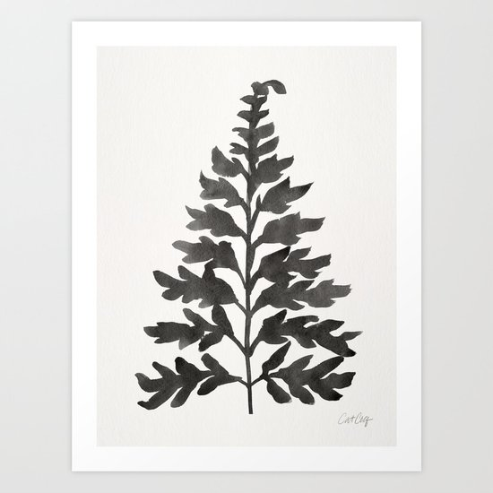 Black Fern Art Print