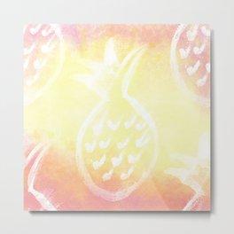 Pineapple Party 2 Metal Print