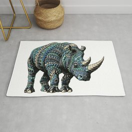 Rhinoceros (Color Version) Rug