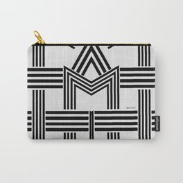 Black and White M Carry-All Pouch