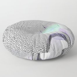 Tulip Grid White Floor Pillow