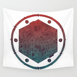 The Folly of Time and Space, Explained Wall Tapestry