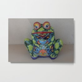 Ladie Frog Metal Print