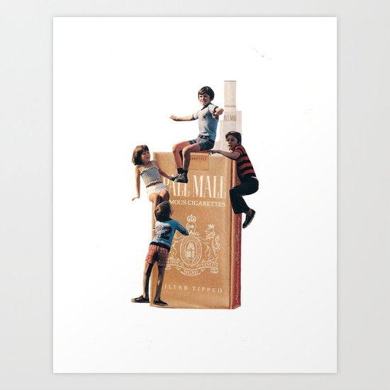 The Cigarette Gang Art Print