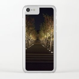 Trees By The Kimbell Clear iPhone Case