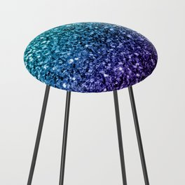 Beautiful Aqua blue Ombre glitter sparkles Counter Stool
