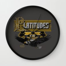 Platitudes Look Awesome With Eagles! Wall Clock