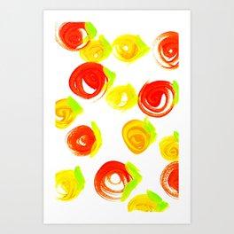 Rosebuds 2 Art Print