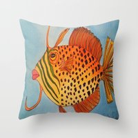 jay z Throw Pillows featuring Jay Z by Caribbean Critters Co.