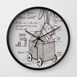 trojan rabbit Wall Clock