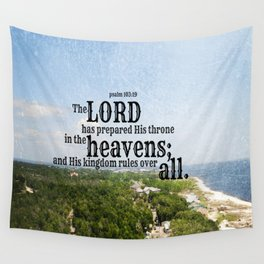 Psalm 103 Lord Heavens Wall Tapestry