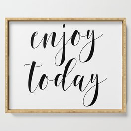 Enjoy Today, Home Decor, Printable Art, Find Joy In The Day, Enjoy Quote, Typographic Serving Tray