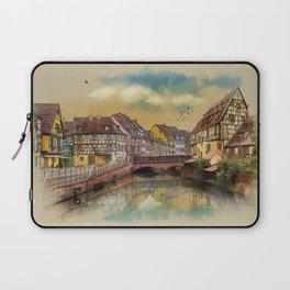 panorama city of Colmar France Laptop Sleeve
