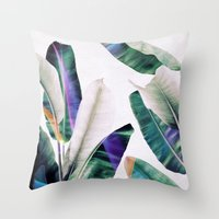 tropical Throw Pillows featuring tropical #1 by LEEMO