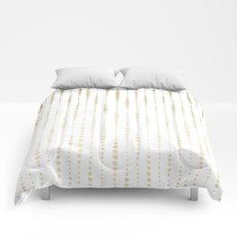 NYC Nights Gold Polka Dot Stripes Comforters