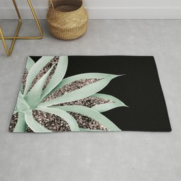 Agave Finesse Glitter Glam #2 #tropical #decor #art #society6 Rug